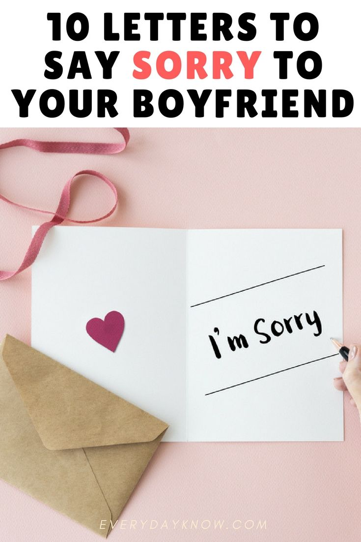 how to apologize to your boyfriend without saying sorry