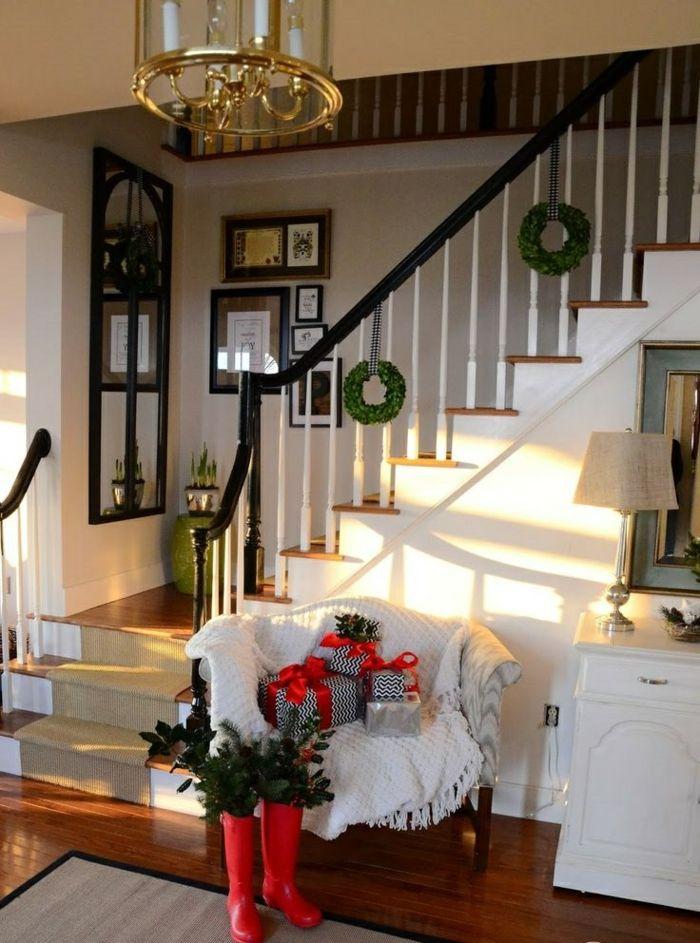 1001+ Dekoideen Weihnachten - das Treppenhaus weihnachtlich ...