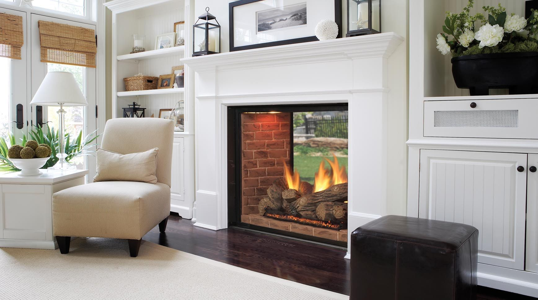 Marquis See Thru DirectVent Gas Fireplaces Majestic Products For The Lake  House Between Living