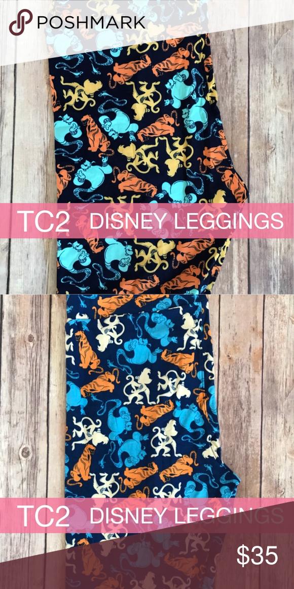 Disney Lula Roe Print Leggings Tall /& Curvy NWT Dark Orange /& Yellow