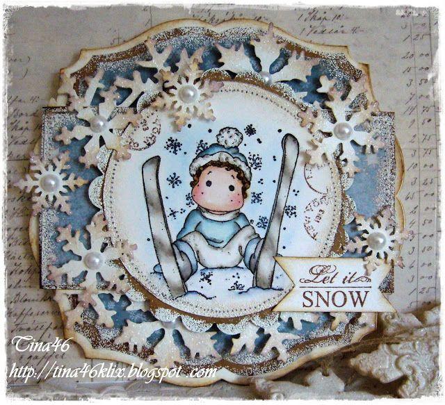 Ski Edwin, A Christmas Story, Magnolia Stamps