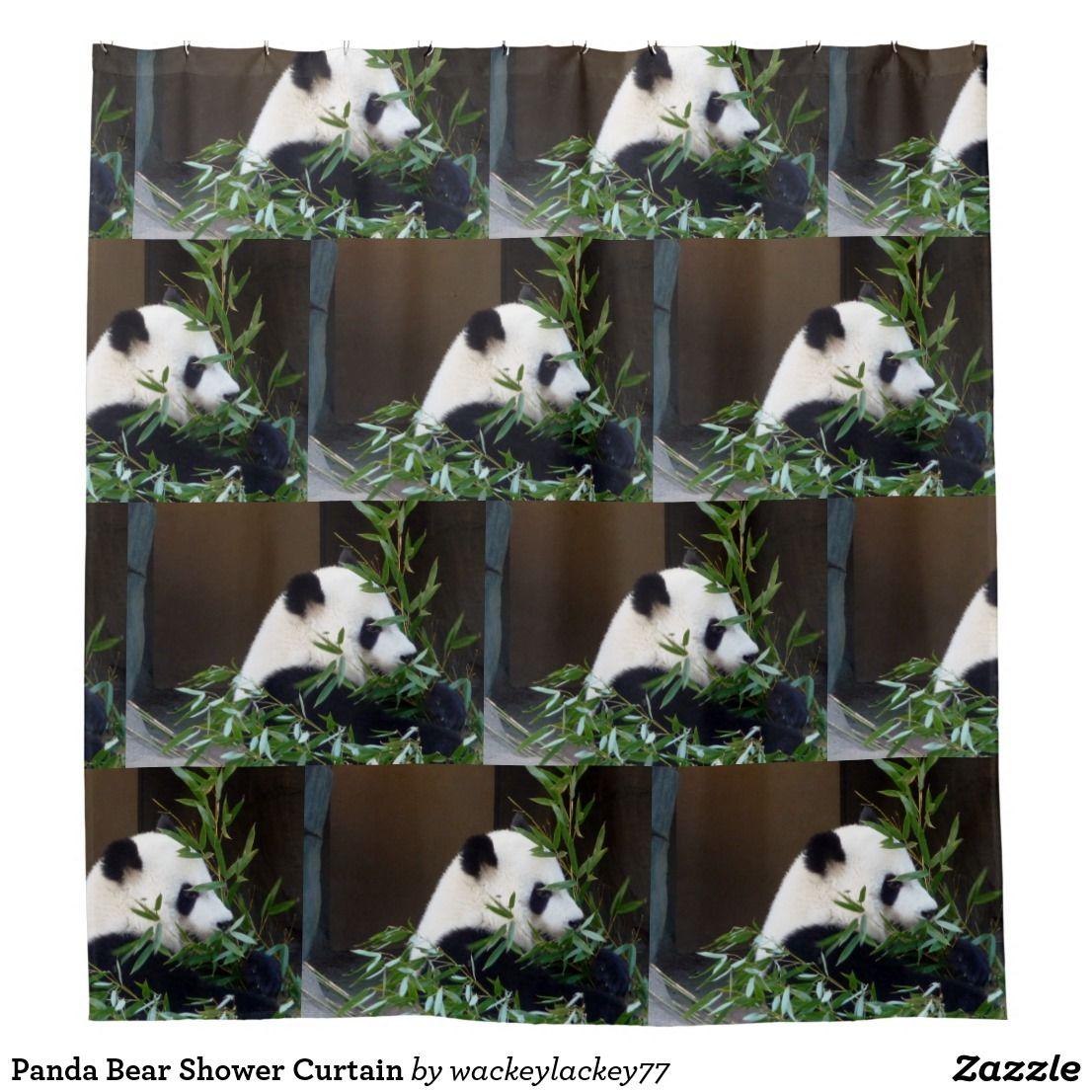 Panda Bear Shower Curtain Zazzle Com Panda Bear Shower