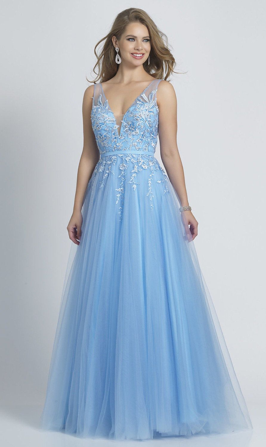 Long Periwinkle Blue Ballgown Style Prom Dress Prom Dresses Blue Prom Dresses Periwinkle Prom Dress [ 1500 x 892 Pixel ]