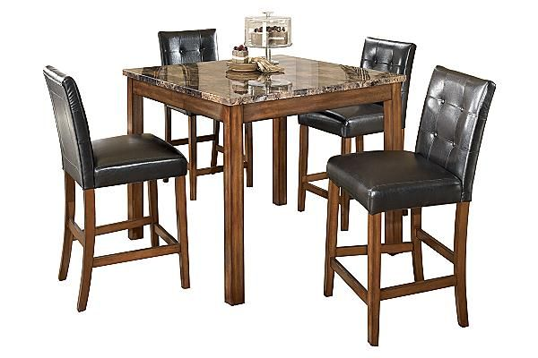 The Theo Counter Height Dining Room Table With 4 24 Barstools