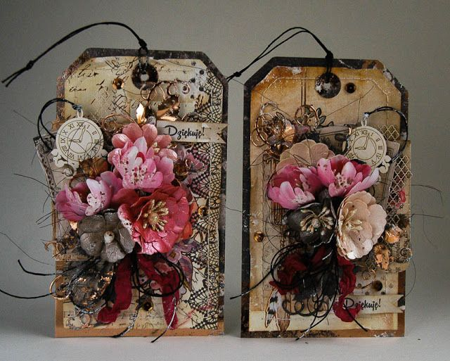 Pożegnanie (Dorota_mk) | Handmade tags, Tag art, Birthday tags