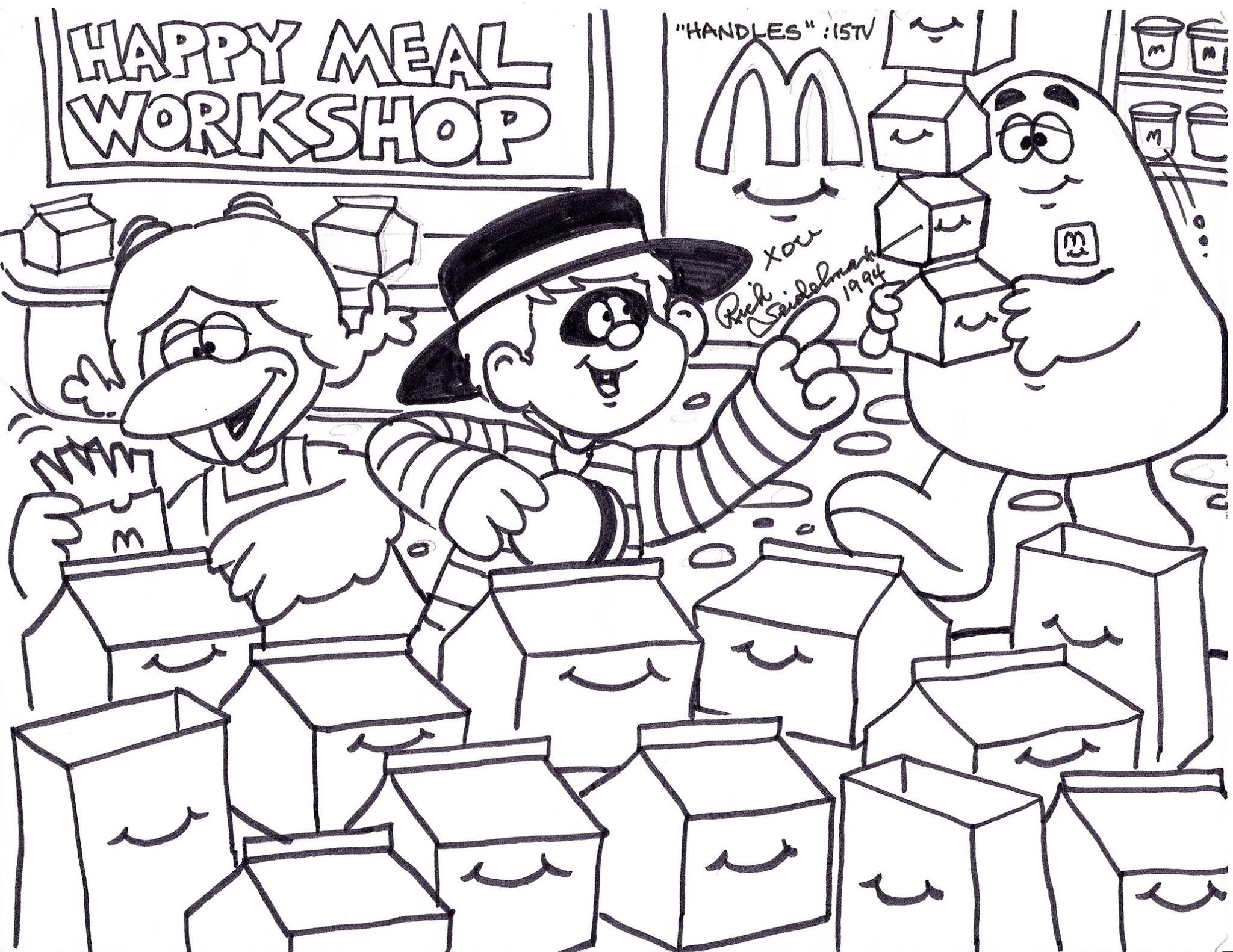 Birdie Hamburglar And Grimace Are Very Busy Filling Happy Meal
