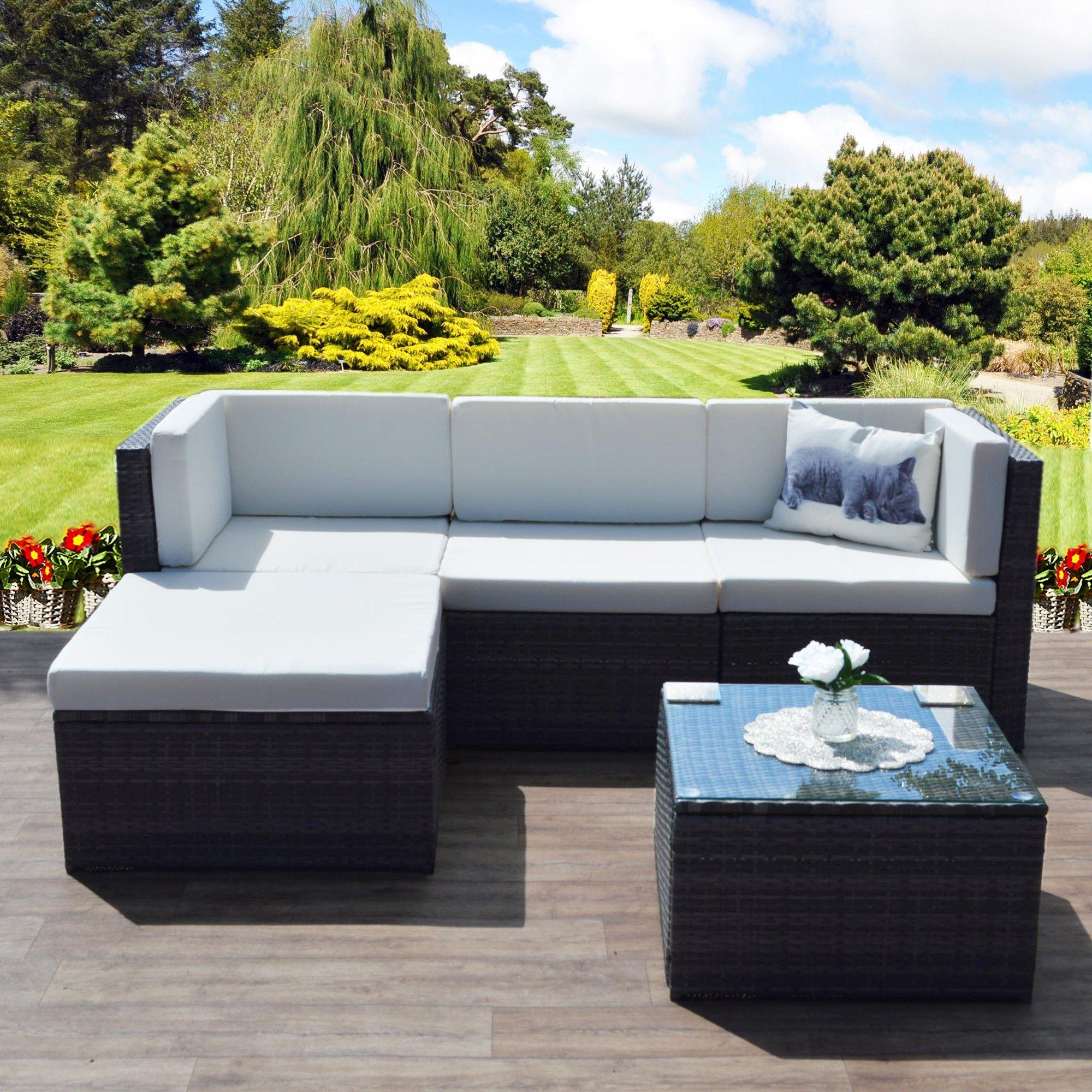 6pc Milan Modular Rattan Corner Sofa Set Bed For Baby Lazada 5 Piece Www Redglobalmx Org Faro In Dark Mixed Grey With
