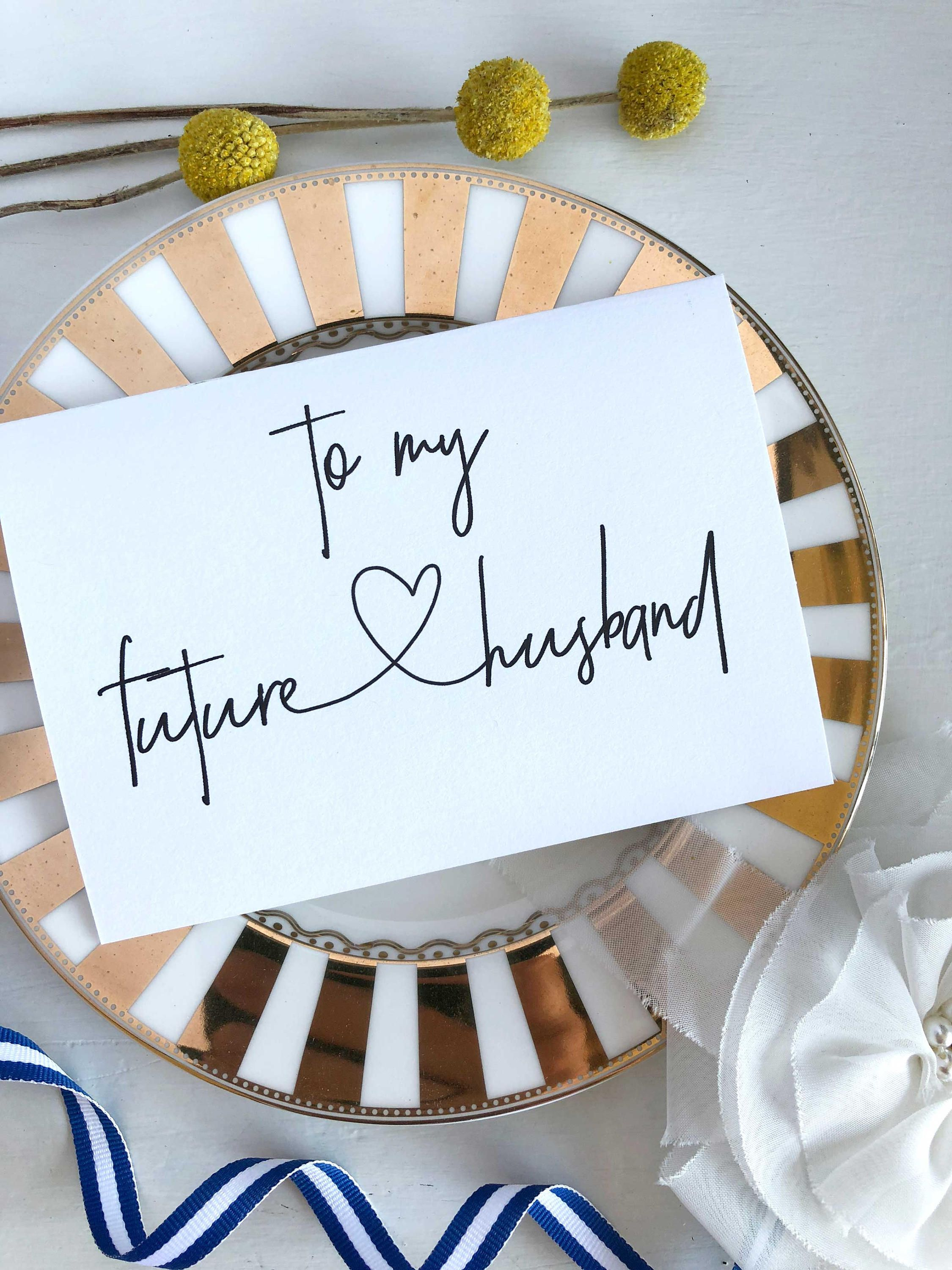 Card from bride to groom to my future husband card gift