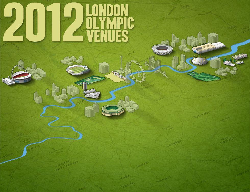 2012 London Olympic Venues Olympic venues, Olympics