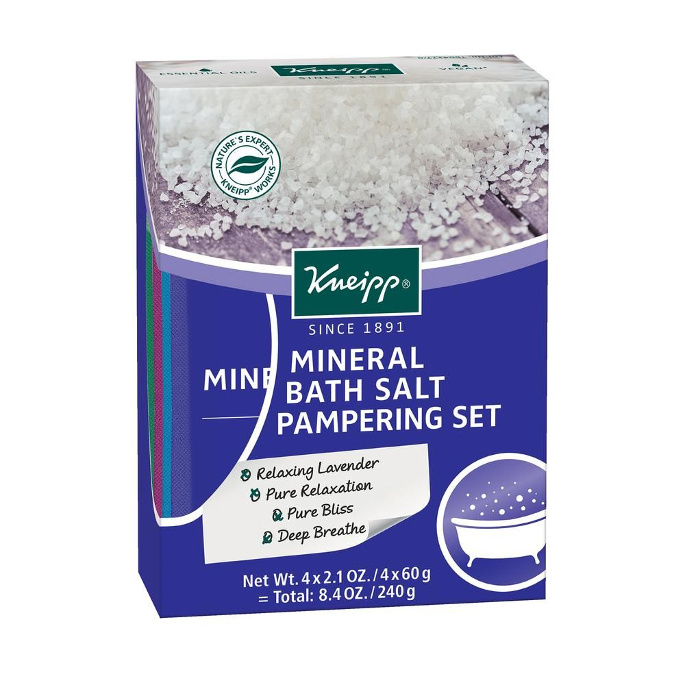 Kneipp Holiday Pampering Mineral Bath Salt 4 Piece Gift Set 2 01
