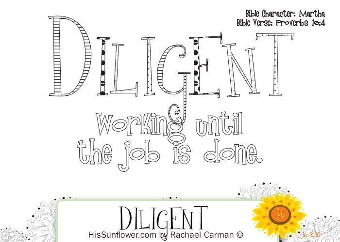 Character Quality Diligent Diligence Is What Separates