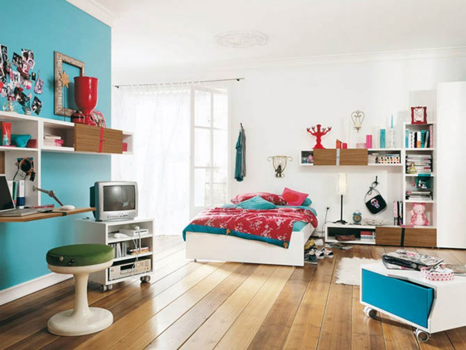 cool accent wall Baby Things Pinterest Teen bedroom furniture