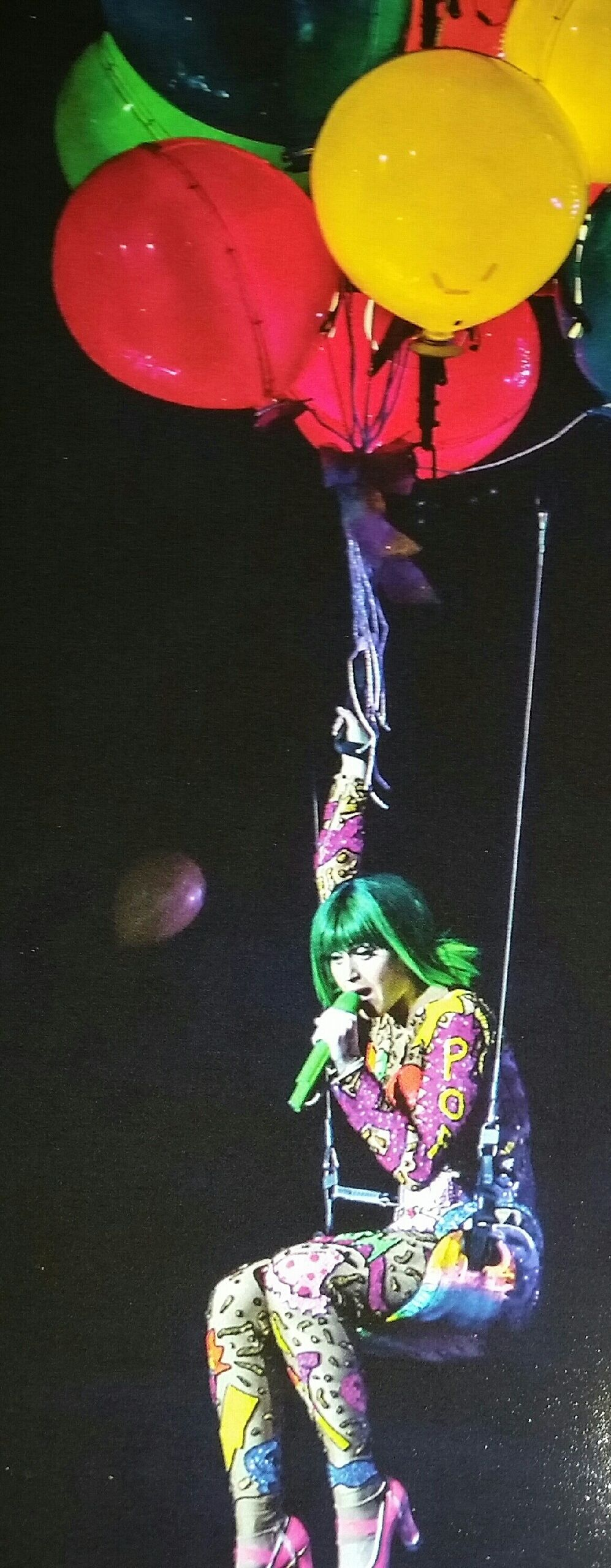 Katy perry floating above us in balloons Christmas