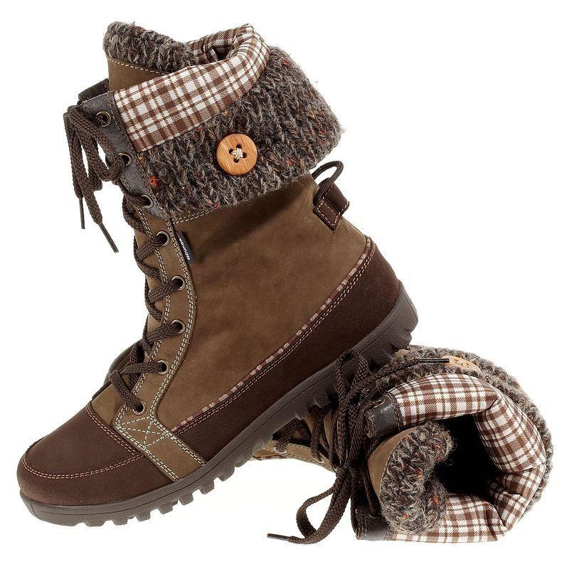 Qoni Women's Winter Boots, Brown/Grey