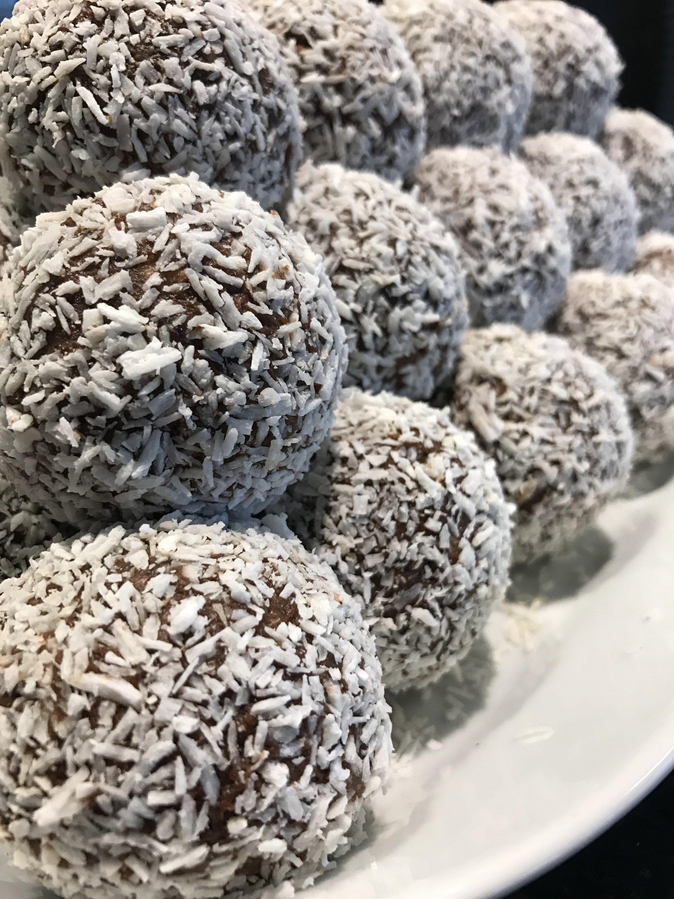 chokladbollar med kaffe recept