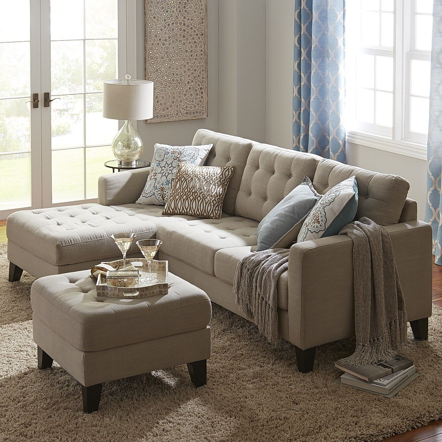 Pier One Living Room Ideas: Build Your Own Nyle Stone Gray Sectional Collection
