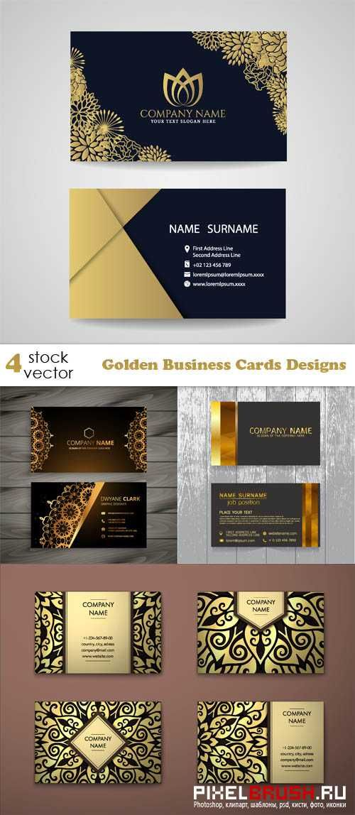 Vectors - Golden Business Cards Designs | Business Card | Pinterest ...