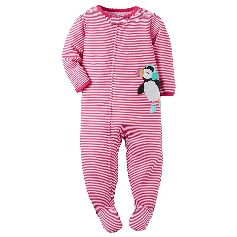 f5af8523a Toddler Girl Carter s Printed Embroidered Footed Pajamas