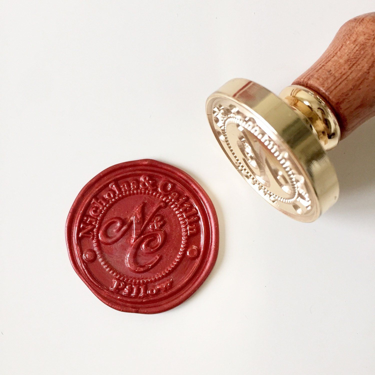 Personalized Wedding Wax Seal Stamp with name