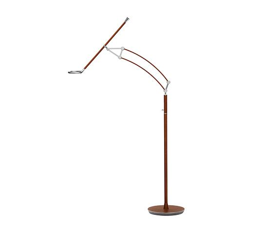 Reading floor lamp with led ring hermes adjustable reading floor reading floor lamp with led ring hermes adjustable reading floor lamp with led light and dimmer switch nickel plated aluminum structure and steel base aloadofball Image collections