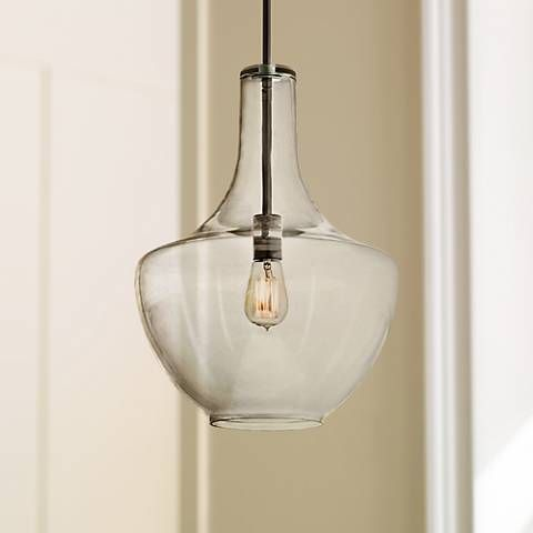 Kichler Everly Bronze 13 Wide Glass Pendant   Lamps Plus