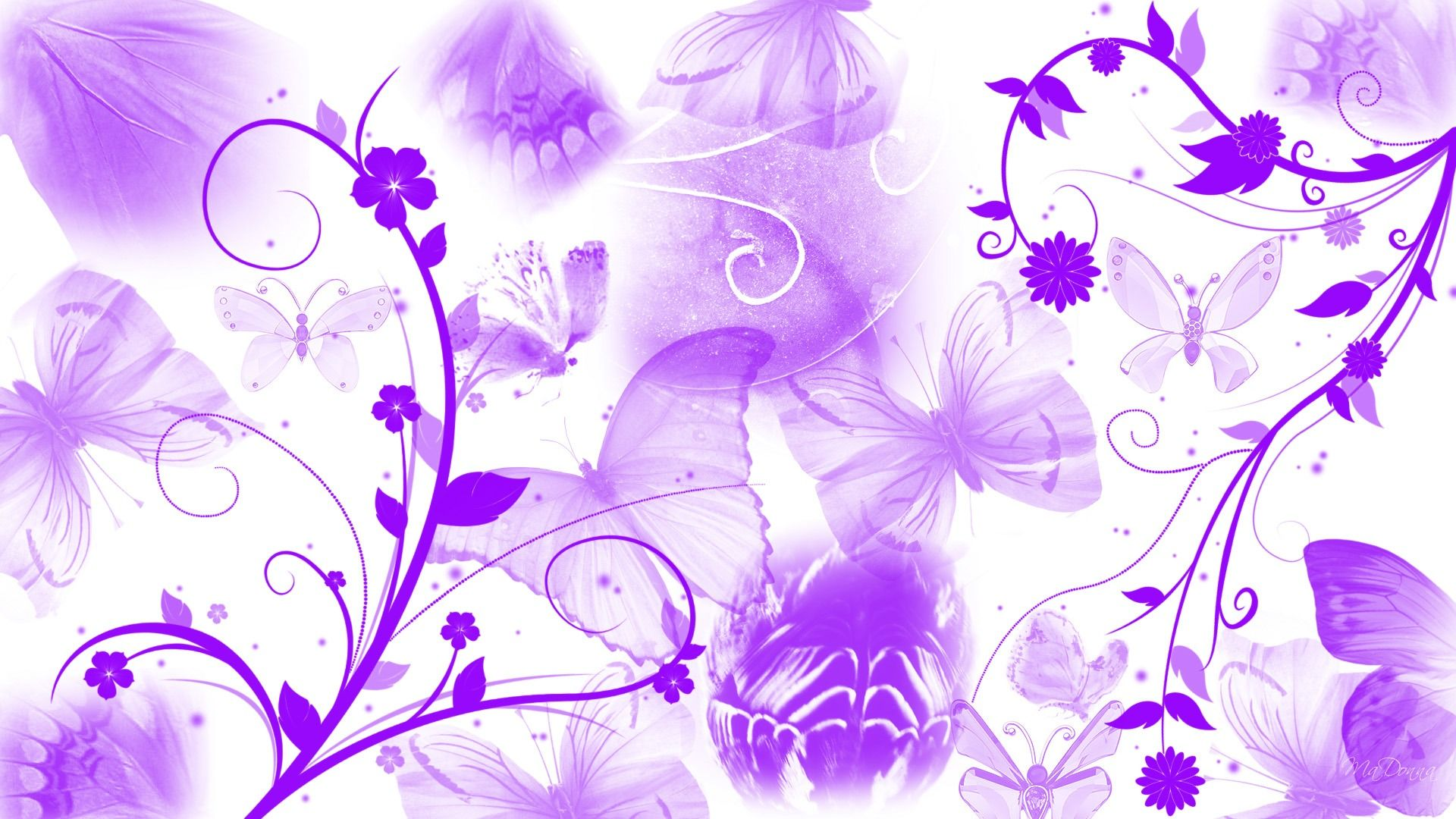 Purple Butterfly Abstract Abstract Wallpapers Wallike