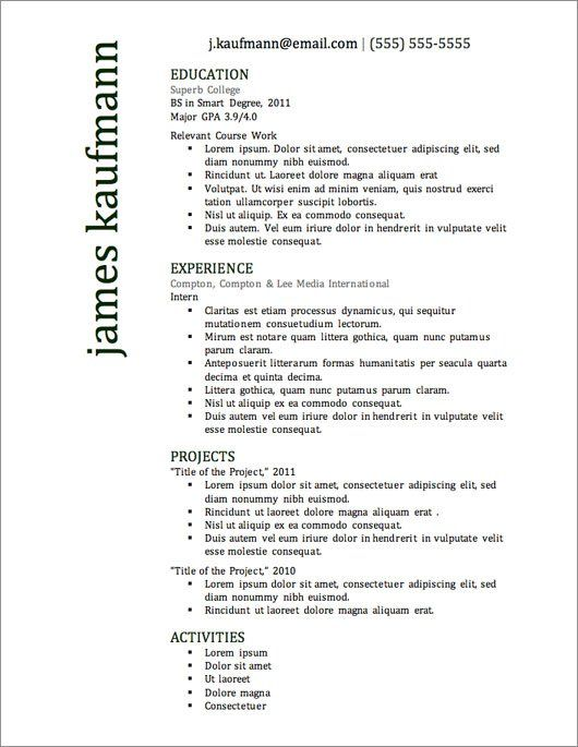 Resume Templates For Microsoft Word Free Download  Resignation