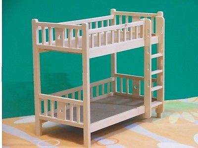 Doll Furniture Unpainted Bunk Beds~1/6 Scale Barbie Blythe #dollfurniture