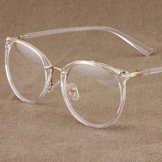 Neue mode gold brillengestelle männer frauen brillen vintage transparente brill…