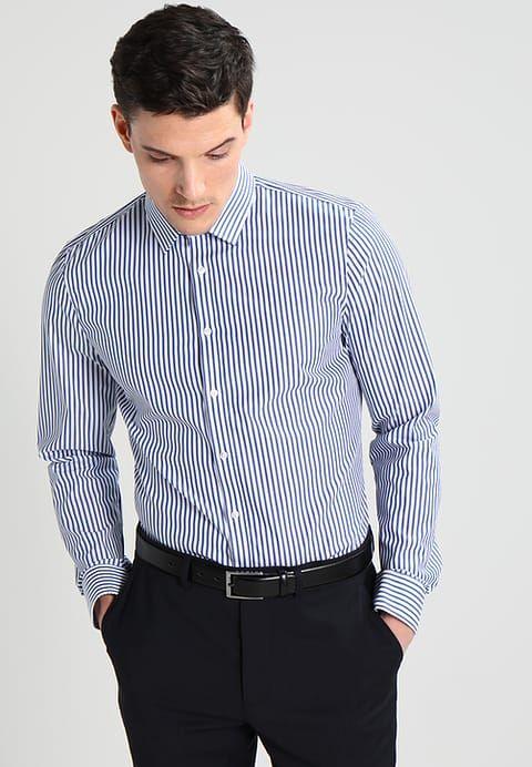 Olymp No 6 Super Slim Fit Koszula Biznesowa Marine Zalando Pl Koszula Moda Fit