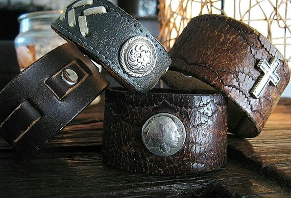 Custom Made to order Snap cuff wrist bracelets by IronCrowVintage, $35.00
