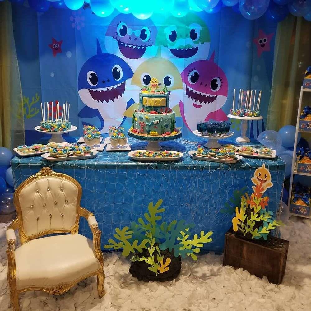 Baby shark Birthday Party Ideas Photo 2 of 19 Catch My