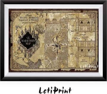marauders map poster   Harry Potter   Harry Potter, Harry potter art ...