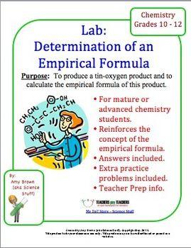 Chemistry Lab Determination Of Empirical Formula  Chemistry
