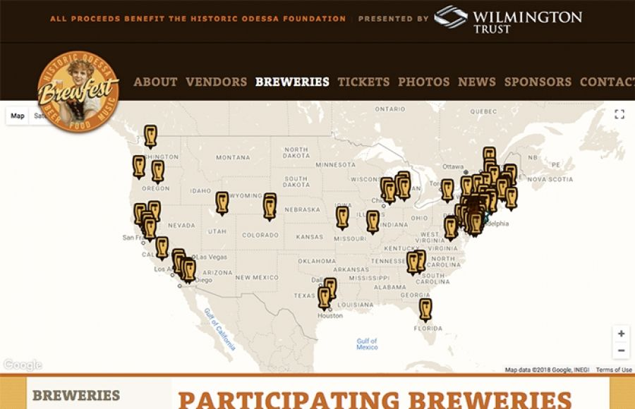Odessa Brewfest Brewery Map Map, Brewery, Interactive map