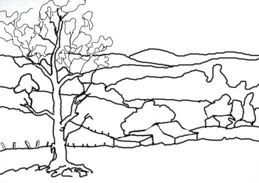 Line Art Landscape : Line landscape drawing google search fall art projects
