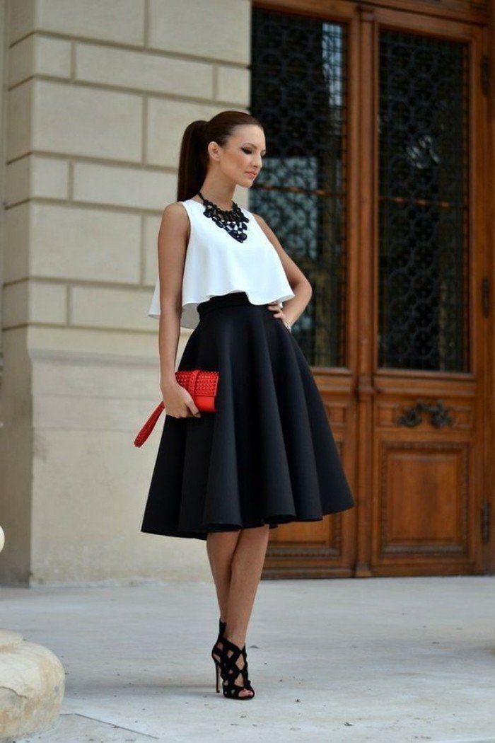 La jupe patineuse – 80 idées comment la porter – Archzine.fr