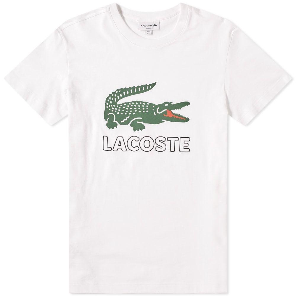 Lacoste Lacoste Big Croc Logo Tee Lacoste Cloth Logo Tees Lacoste Lacoste Clothing