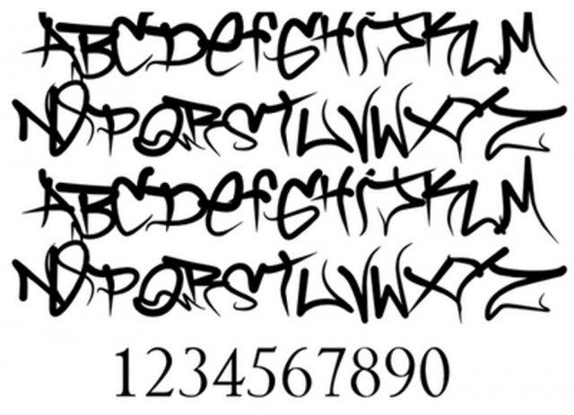 Cool Graffiti Fonts Sketches
