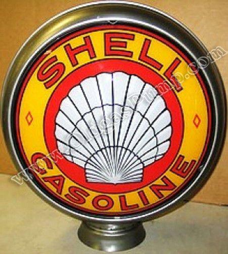 "GL316 Shell 15/"" Gas Pump Globe"