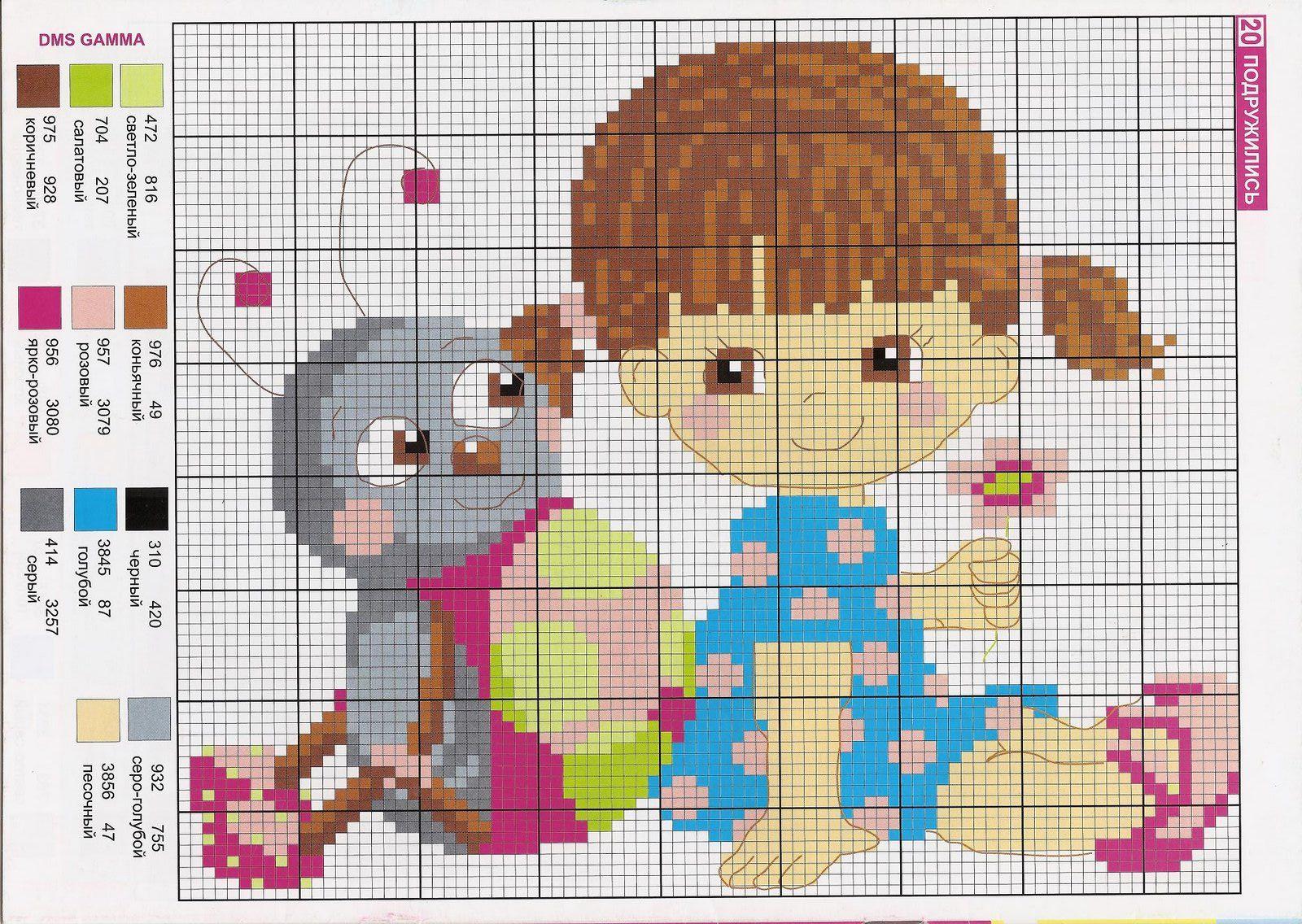 bordado ponto cruz bebe menina 6.jpg (1600×1136) | Ponto Cruz ...