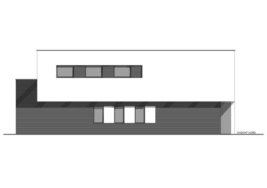 ANSICHT NORD - Niedrigenergiehaus