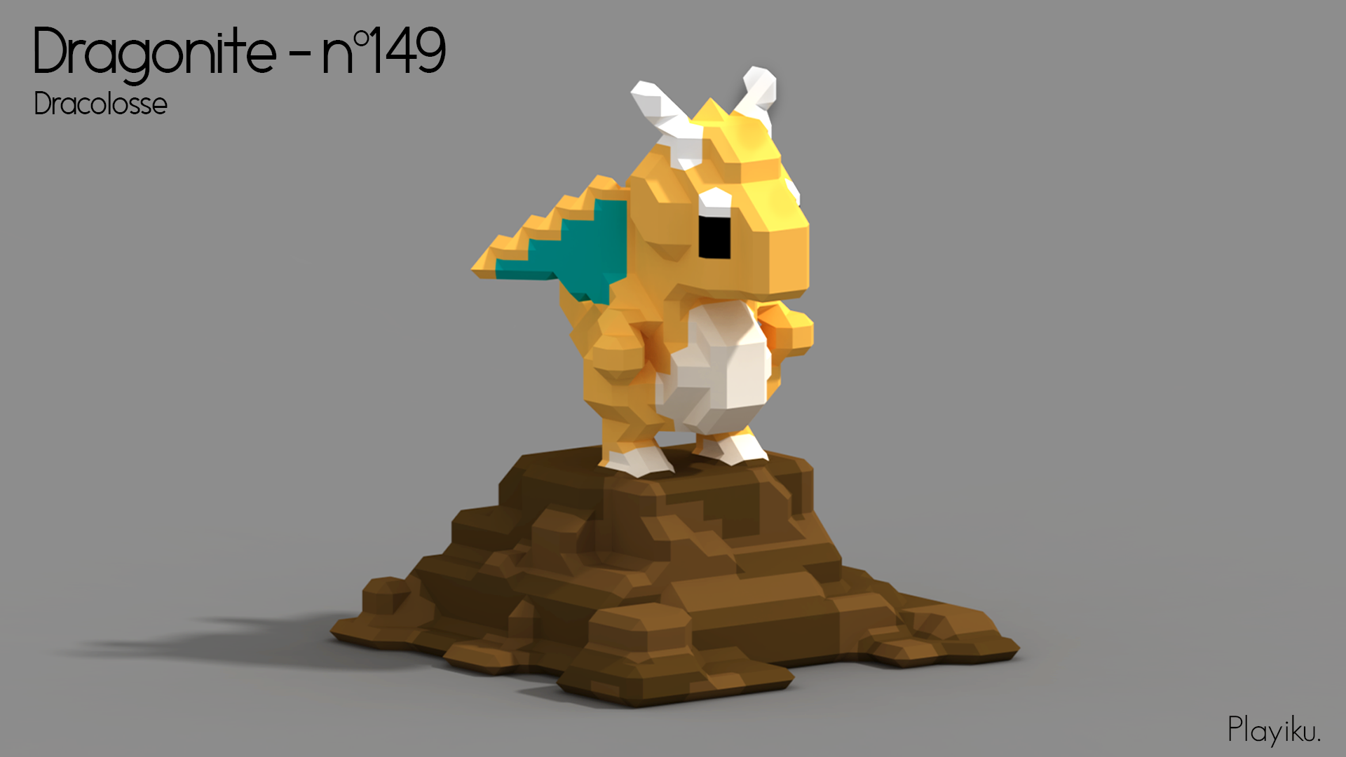 Pokemon series made with Magicavoxel.