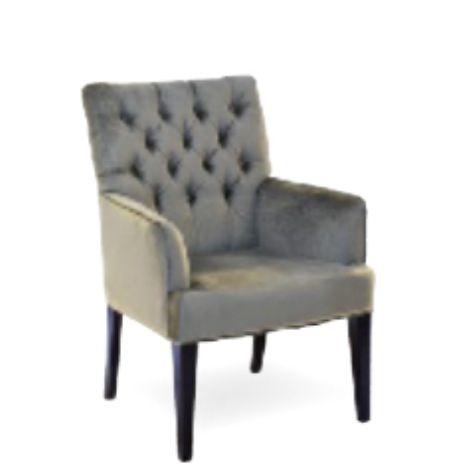 Eetkamerstoel velours grijze Eetkamer-stoel.nl €359 ...