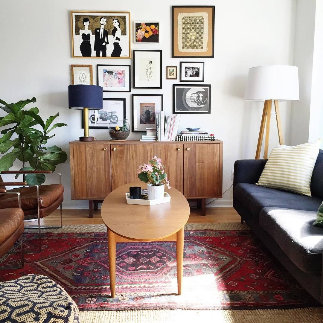 Image result for mid century black leather sofa | Mid ...