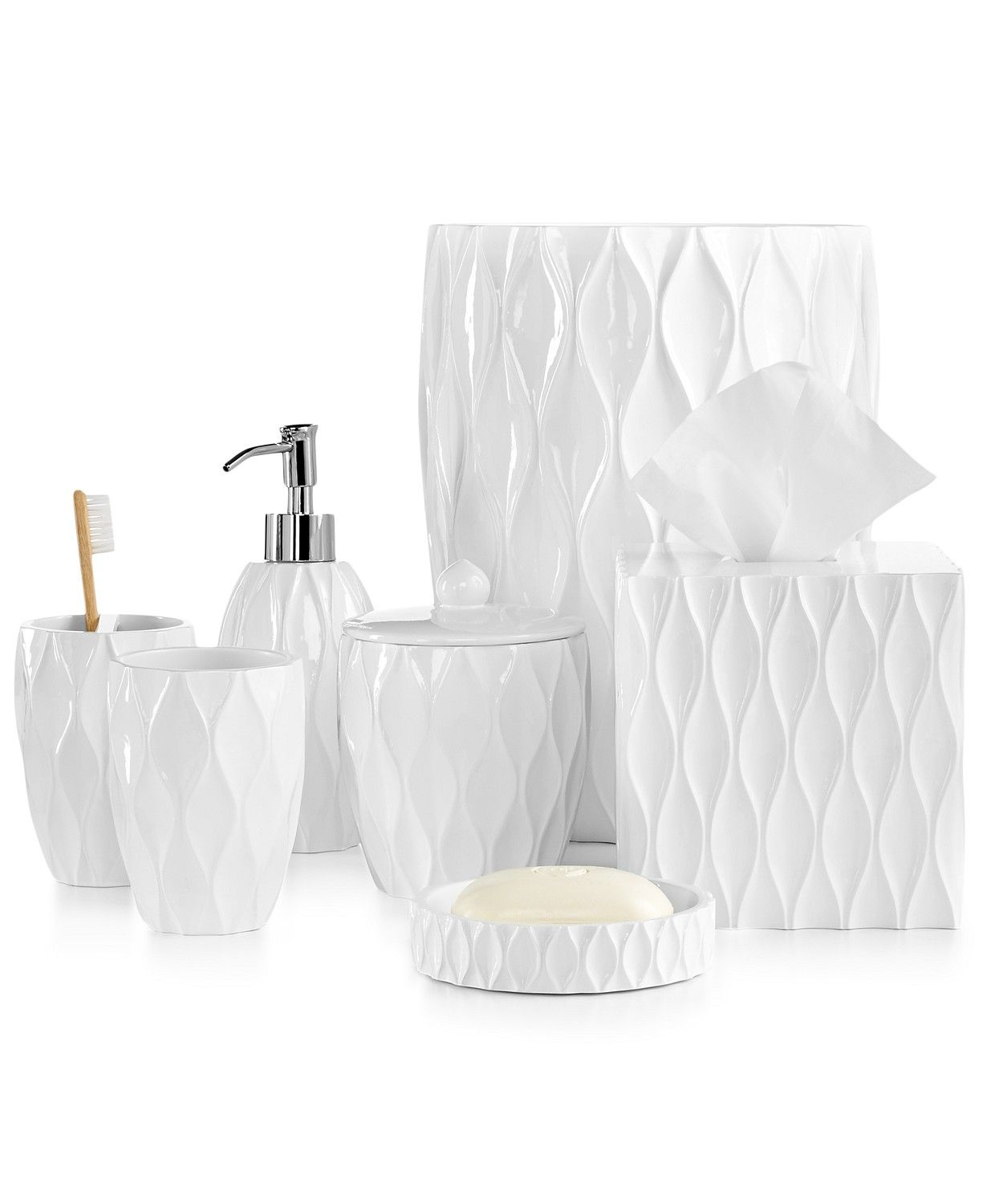 Roselli Trading Company Roselli Trading Wave Bath Accessories