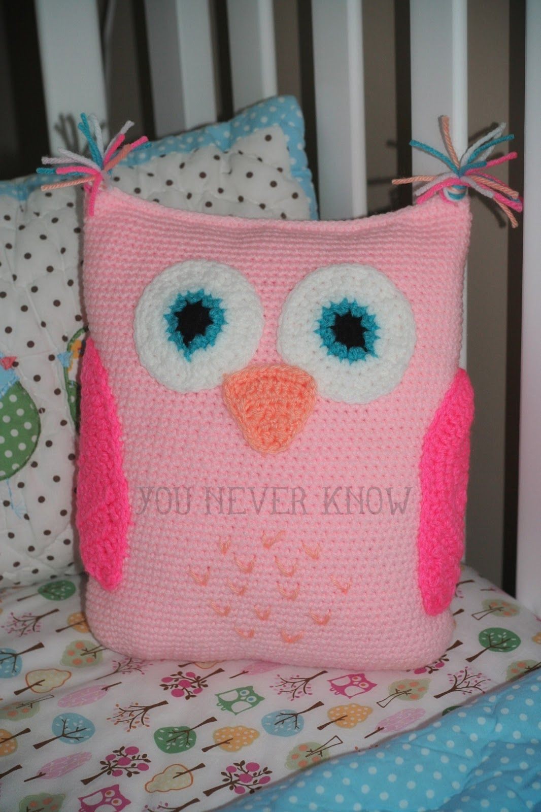 You never know blog free owl pattern crochet and sewing you never know by andrea vanhooser womack claras owl pillow free crochet pattern bankloansurffo Images