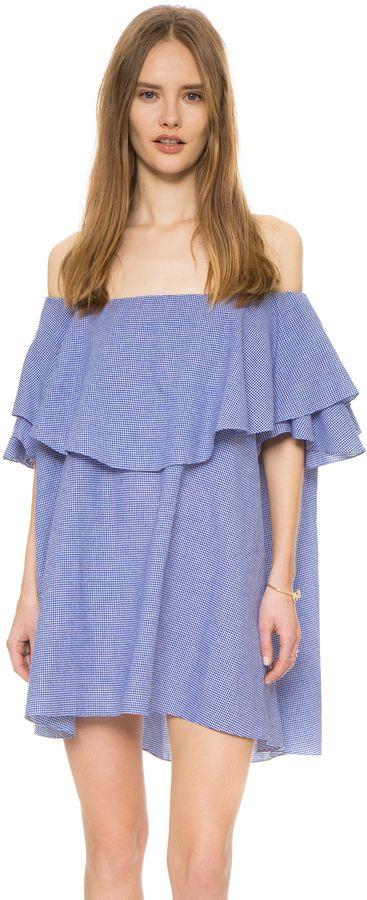 c1a0ea2ed35 MLM Label Maison Off Shoulder Gingham Dress - ShopStyle Day ...