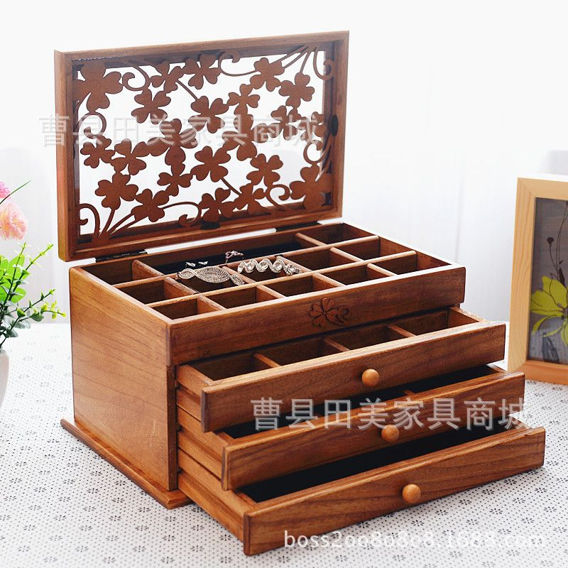 Aliexpress Com Buy Large Wooden Jewelry Box Jewelry Necklace Earrings High End Eur Derevyannye Shkatulki Dlya Bizhuterii Korobka Dlya Kosmetiki Derevyannye Proekty