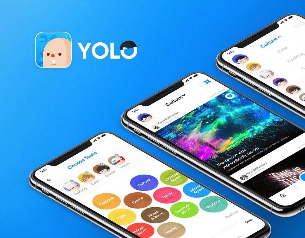 查看這個 Behance 專案「YOLO Mobile App」https//www.behance